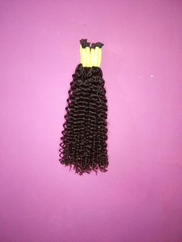 cabelo humano cacheado a vapor 50 cm 200 gramas