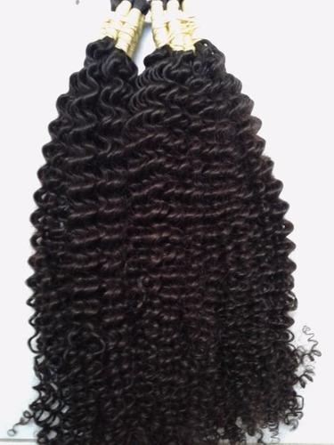 cabelo humano cacheado a vapor 70 cm 100 gramas p/mega hair.