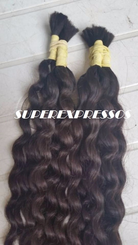 cabelo humano cacheado natura 70 75 cm 50 gramas sem quimica