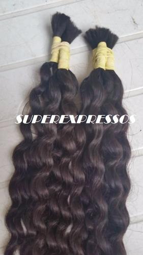 cabelo humano cacheado natural 60 cm 100 gramas sem quimica