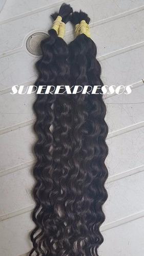 cabelo humano cacheado natural 70 cm 100 gramas sem quimica
