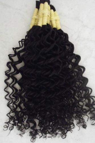 cabelo humano cacheado vapor 40cm 100 gramas.