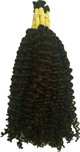 cabelo humano cacheado vapor 40cm 250 gramas.
