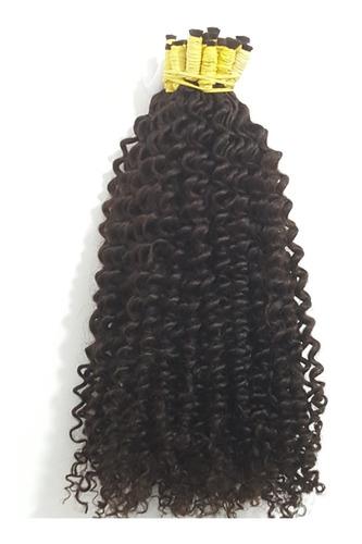 cabelo humano cacheado vapor 50cm 200 gramas.