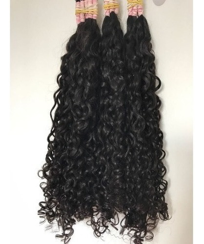 cabelo humano cacho caipira 100 gr 75 cm lindo