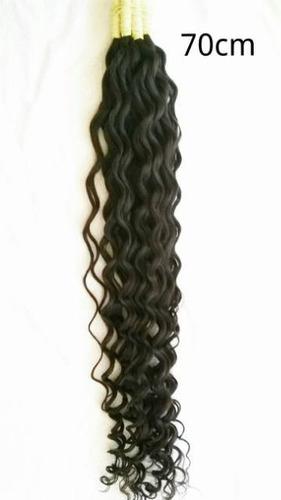 cabelo humano cachos largos nº 3 de 70cm 100 gramas.