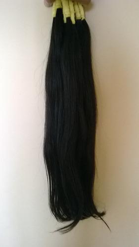 cabelo humano castanho liso natural 60/65cm - 100gramas