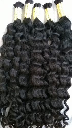 cabelo humano com cachos largos 70-75cm 50 gramas.