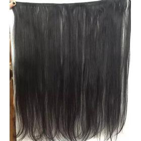 Cabelo Humano Liso Natural Em Tela Mega Hair 70cm 100gramas.