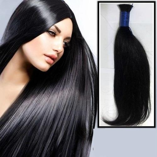 cabelo humano liso ondulado 50 a 55cm 100gr (cabelo virgem