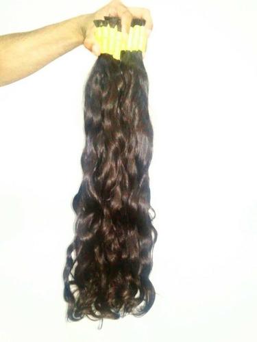 cabelo humano liso ondulado 60 a 65cm 125gr( cabelo virgem )