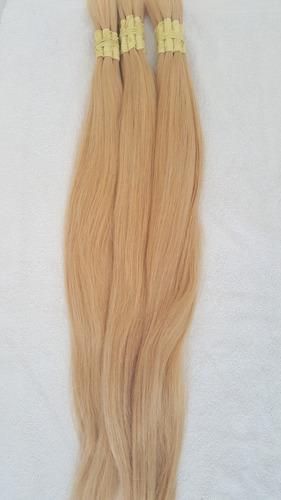 cabelo humano loiro claro liso de 70cm 200 gramas.