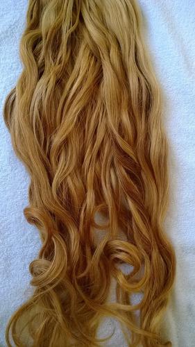cabelo humano loiro mel 60cm 50 gramas, em 12x sem juros.