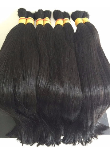 cabelo humano mega hair 100g castanho liso brasileiro