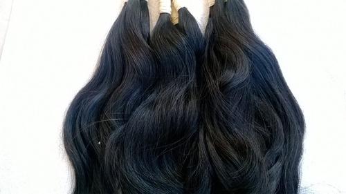cabelo humano mega hair levemente ondulado 50 cm 150 gramas.