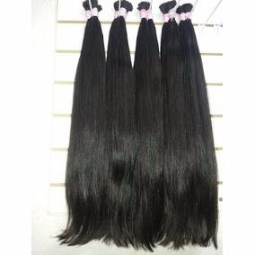 cabelo humano mega hair liso natural 70/75cm - 100gramas