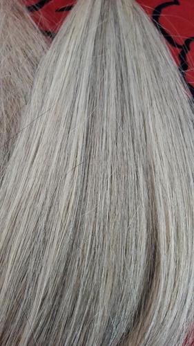 cabelo humano mesclado marrom c loiro liso 60cm 50 gr /luzes