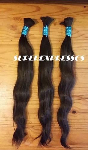 cabelo humano natural 60 cm 100 gramas  ( cabelo virgem )
