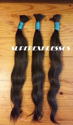 cabelo humano natural 70 75 cm 50 gramas ( cabelo virgem )