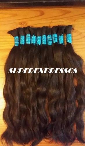 cabelo humano natural 70 cm 100 gramas ( cabelo virgem )