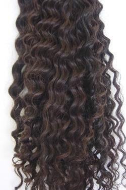 cabelo humano natural cacheado a vapor 50 cm 50 gramas.