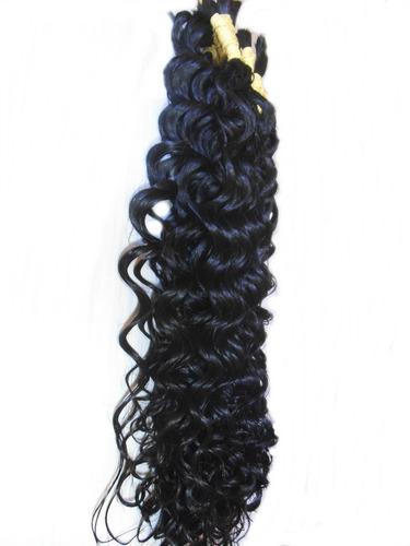 cabelo humano natural cacheado a vapor 70 cm 50 gramas.