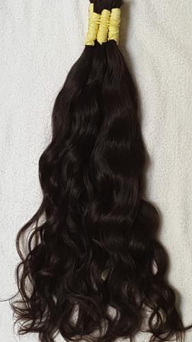 cabelo humano natural levemente ondulado 50 cm 50 gramas.