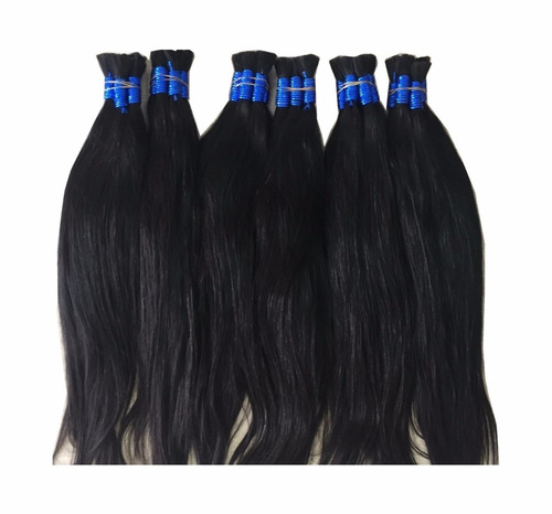 cabelo humano natural mega hair 70/75cm- 50gramas
