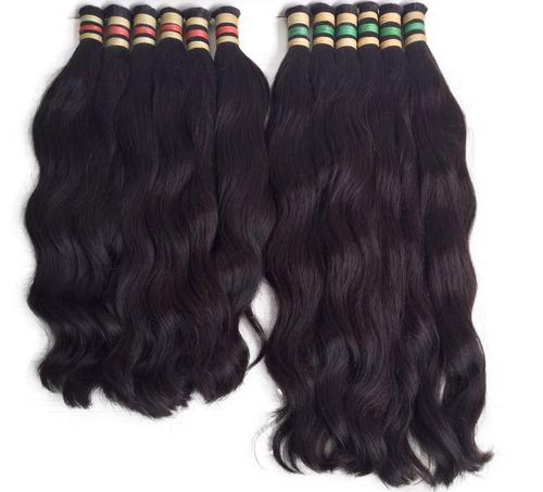 cabelo humano natural ondulado virgem 70/75 cm - 50gramas