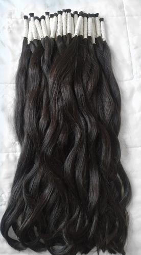cabelo humano natural p/mega hair60 65cm 50gr(cabelo virgem)