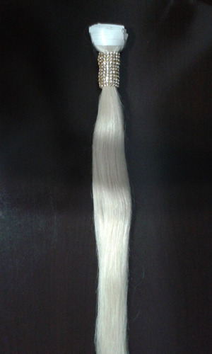 cabelo humano russo loiro platinado na fita adesiva - savoy