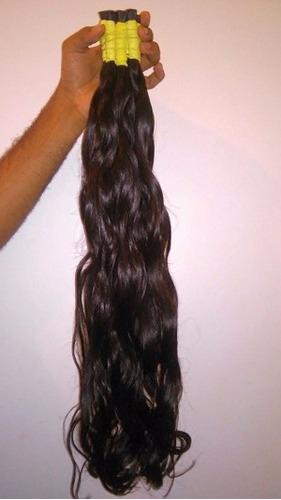 cabelo humano virgem p/mega hair leve ondas 70 cm 100 gramas