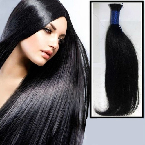 cabelo natural 55/60 cm-. 100 g liso.