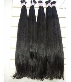 cabelo natural 75 cm 150 gr liso castanho brasileiro