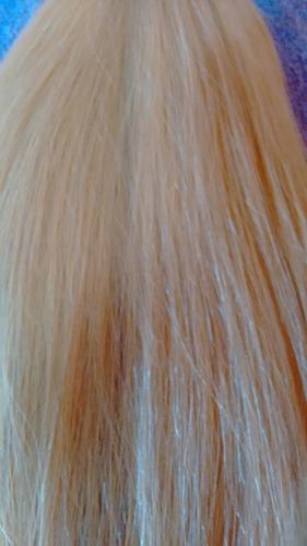 cabelo natural humano descolorido liso 55cm 120gr- mega hair