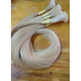 Cabelo Natural Humano Loiro Liso 150gr 65cm - Mega Hair