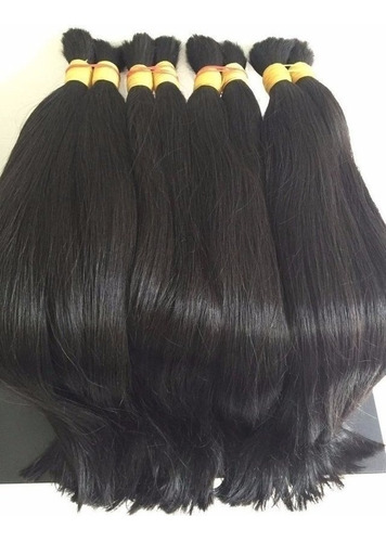 cabelo natural humano virgem leve ondas 55 cm 100 gramas