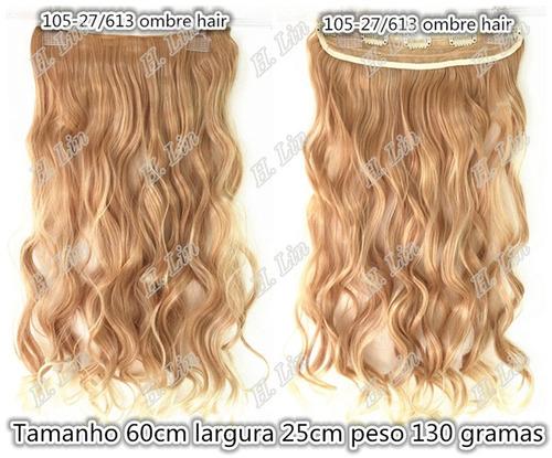 cabelo ombre hair tic tac fibra japonesa 60cm cor 27/613