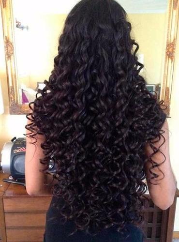 cabelo organico natural  cacheado ondulado 70cm 270gr 8telas