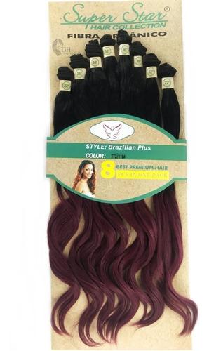 cabelo orgânico liso ond human hair 70cm260gr brazilian plus