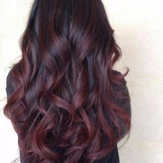 Cabelo Orgânico Marsala Liso Ond Human Hair 70 Cm 300g ...