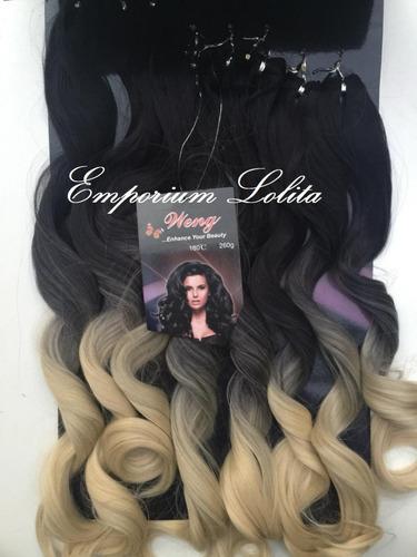 cabelo orgânico ondulado ombre cores 8 tela 260gr promoção