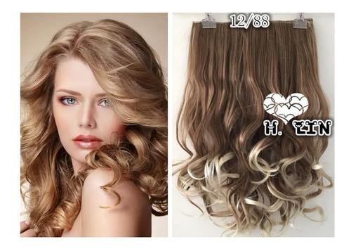 cabelo repicado 130g tic tac ombre hair 60cm 12t88 castanho champanhe loiro