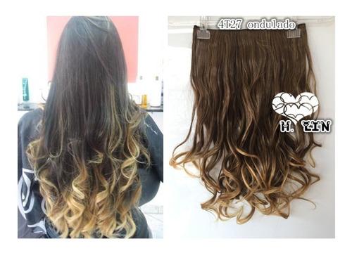 cabelo repicado tic tac 60cm 4t27 castanho californiana ombr