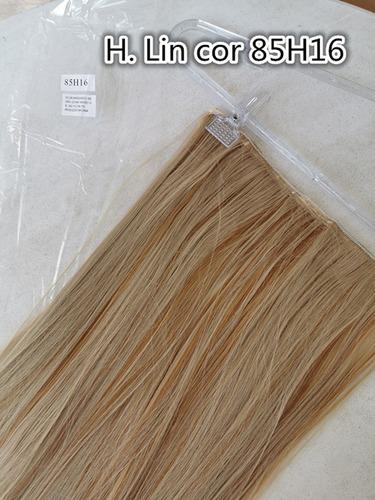 cabelo repicado tic tac 85h16 loiro claro dourado 60cm apliq