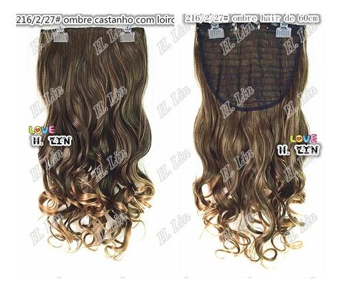 cabelo repicado tictac 216 ombre hair 60cm 2/27 frete gratis