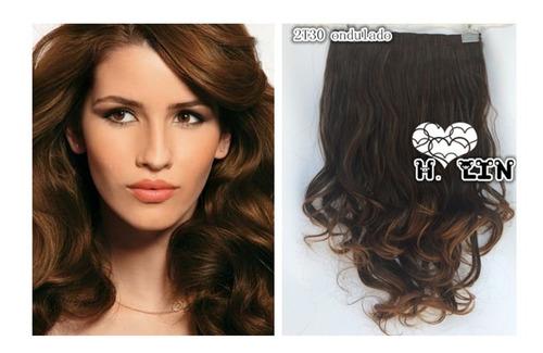 cabelo tic tac 60cm 2/30 ombre hair 140g californiana castan