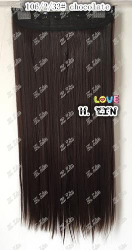 cabelo tic tac 60cm cor 2/33 chocolate frete gratis 130grama