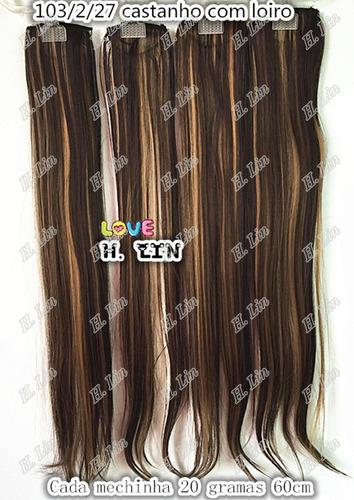 cabelo tic tac 60cm luzes faixinha mechinha mechas 103/2/27