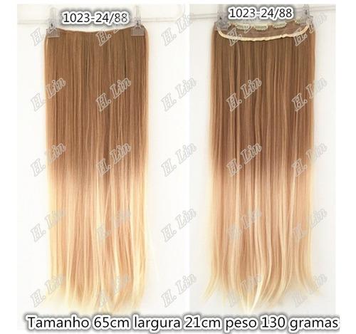 cabelo tic tac 65cm 130g ombre hair californiana loiro 24/88